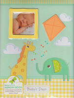 Gibson Animal Baby's First Record Book Memory Keepsakes Album Stepping Stones