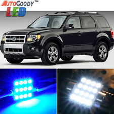 10 x Premium Blue LED Lights Interior Package for Ford Escape 2001-2012 + Tool