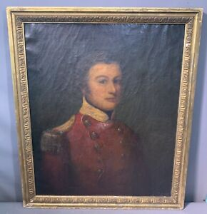 Early 19thC Antique REVOLUTIONARY WAR Uniform BRITISH GENERAL Portrait PAINTING