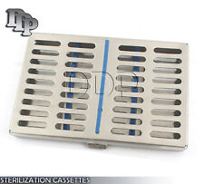 DENTAL AUTOCLAVE STERILIZATION CASSETTE RACK BOX TRAY FOR 10 INSTRUMENTS