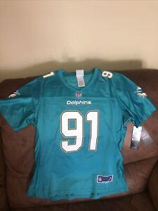 NFL Pro Line Miami Dolphins Cameron Wake #91 Replica Jersey NWT Size S Womens