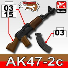 Overmolded AK-47 (W164) Rifle compatible with toy brick minifigures AK-47