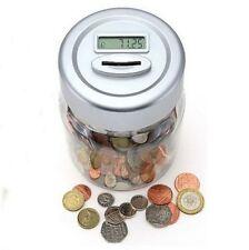 Moneybox Money Box Digital Coin Counter Safe Cash Bank Security Tin Holder NEW