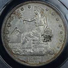 1877-S $1 Trade Dollar ANACS AU 53 DETAILS CHOPMARKED