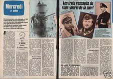 Coupure de presse Clipping 1985 Le Bateau le sous marin U-96 (2 pages)