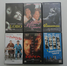 Lote 6 x peliculas video VHS version original ingles Speak up Seven Lobo PAL