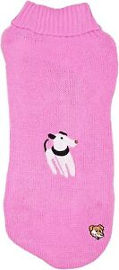 Pink Doggy Things Dog Jumper Size Small 40cm Miniature Schnauzer Pug