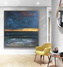 """VV757 Modern Simple abstract oil painting Hand-painted Sea Decor art Canvas 24"""""""