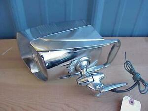 NOS Chrome Jet Rocket SPOT-LIGHT & Mirror 12V 1950s Beauty NUVUE F803 Hallmark