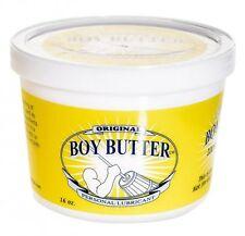 Boy Butter Original Oil Based Personal Lubricant Intimate Sex Lube 16 Oz Tub Jar