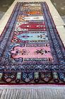 Antique Handmade Perssian Wool Runner Rug 7.4x2.7 FT