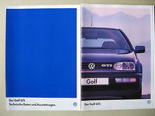LETZTER Prospekt VW Golf 3 GTI 2,0 115 PS AGG III Facelift Modell 1997 1998 D