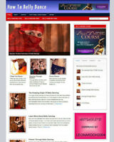 LEARN BELLY DANCING BLOG WEBSITE WITH AFFILIATE STORE & BANNERS + FREE DOMAIN