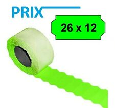 54.000 x Prix Price Tags for Kavir SAMARK 26 26x12mm Green Permanent 36 Casters