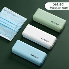 Mini Portable Face Coverings Storage Box Face Cover Container Case for Travel