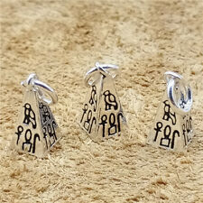 3 Sterling Silver Pyramid Charm w/ Old Egyptian 925 Silver Pyramid for Bracelet