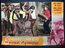 FOTOBUSTA CINEMA - COMBATTIMENTO AI POZZI APACHE - BEN COOPER - 1957 -WESTERN-02