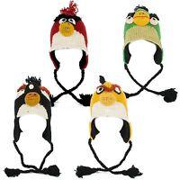 Handmade Knit 100% Wool Unisex Animal Winter Nepal Hat, Bird