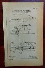 1885 Sketch Diagram US Military Horse Harness for Cart, Saddle Bag, Battlefield