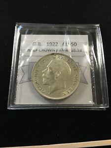 1922  Great Britain, Half Crown, Coin Mart Graded**AU-50** KM# 818.1a