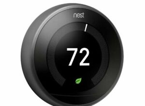 Nest T3016US | BLACK 3rd Generation Learning Thermostat / BLACK