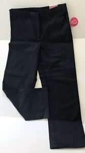 Izod Girls Approved Schoolware Adjustable Waist Pants Navy Size 181/2 Plus