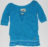 NWT HOLLISTER by Abercrombie Womens Peasant Top Blouse Shirt XS