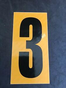 Go Kart - Kartech Number Nassa Yellow|Black - #3
