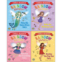Daisy Meadows Rainbow Magic Early Reader 4 Books Collection Pack Set NEW Flora