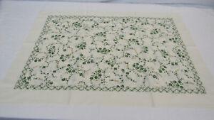 $125 DEA Italy beautiful pillow case – beige & green 100% cotton / Le Isole