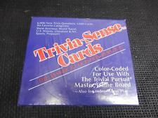 Old Vtg TRIVIAL PURSUIT TRIVIA-SENSE CARDS FACTORY SEALED COMPLETE Master Game
