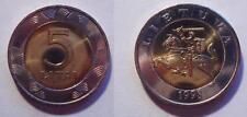 LITHUANIA 9-PIECE UNCIRCULATED COIN SET, 0.01 - 5 LITAI