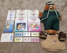 Vintage Teddy Ruxpin Lot w/ 6 Books & Cassette Tapes, Green Outfit & More