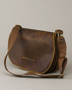 New Eddie Bauer Leather Shooters Bag Packhorse Retail $499 Duffel Messenger