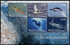Marine Life souvenir sheet mnh Ross Dependency 2013 fish whales bird shrimp