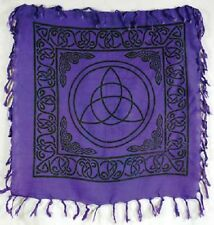"18"" Purple Charmed Triquetra Altar Cloth Wiccan Pagan Altar Supply #86"