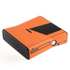 Textured Orange Carbon Fibre Effect XBOX 360 Slim decal skin sticker cover wrap