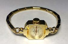 NOS 1970's Leon Piradet 21 Jewels Mechanical Goldtone Cocktail Ladies Watch 002