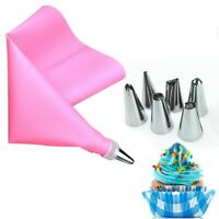 8pcs/set Pastry Nozzles With Bag Stainless Steel For Cream Decorating Cake New
