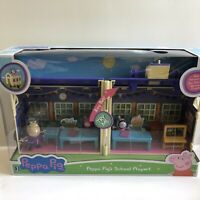 Peppa Pig School Playset Zoe Zebra Madame Gazelle Bell Carry-and-Go Fun Toy Set