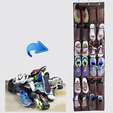 Closet Home Over the Door Hanging Shoe Organizer Mesh Storage Holder 24 Pockages