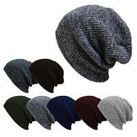 Bonnet beanie mélange de coton, tricot pour homme et femme
