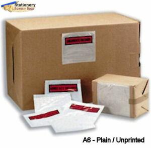 100 A6 Plain Unprinted Document Address Wallets Labels 160x110mm