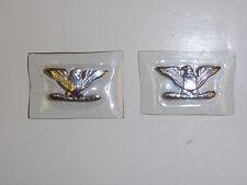 b5308 Vietnam Us Air Force Usaf Colonel Rank metal eagles plastic cover pr B3D8