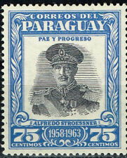 Paraguay Dictator Alfredo Stroessner stamp 1963 MNH