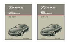 2003 Lexus SC 430 Shop Service Repair Manual Book Engine Drivetrain OEM
