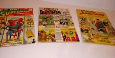 DC 80 Page Giant 1960s Comic Lot , #'s 2, 5,, and 6 clean books