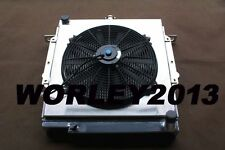 Aluminum radiator + shroud + fan for Land Cruiser 75 Series HZJ75 1HZ Manual