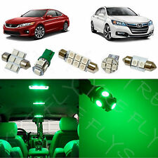 12x Green LED lights interior package kit for 2013-2017 Honda Accord HA2G