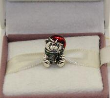 AUTHENTIC PANDORA  Christmas Teddy Charm 791391enmx    #636